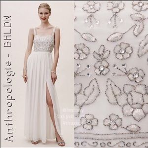 NWT ANTHROPOLOGIE IVORY BHLDN BEADS PALERMO DRESS